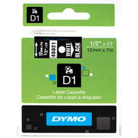Dymo LabelManager 300 ready Original Dymo 45021 White on Black 12mm x 7m D1 Label Cartridge (S0720610) Image