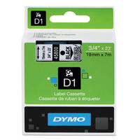 Dymo LabelManager 300 ready Original Dymo 45800 Black on Transparent 19mm x 7m D1 Label Cartridge (S0720820) Image