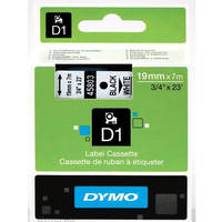 Dymo LabelManager 300 ready Original Dymo 45803 Black on White 19mm x 7m D1 Label Cartridge (S0720830) Image
