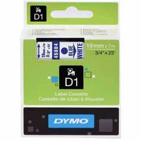 Dymo LabelManager 300 ready Original Dymo 45804 Blue on White 19mm x 7m D1 Label Cartridge (S0720840) Image