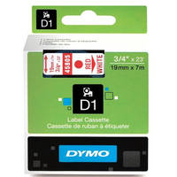 Dymo LabelManager 300 ready Original Dymo 45805 Red on White 19mm x 7m D1 Label Cartridge (S0720850) Image