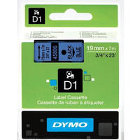 Dymo LabelManager 300 ready Original Dymo 45806 Black on Blue 19mm x 7m D1 Label Cartridge (S0720860) Image