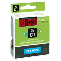 Dymo LabelManager 300 ready Original Dymo 45807 Black on Red 19mm x 7m D1 Label Cartridge (S0720870) Image