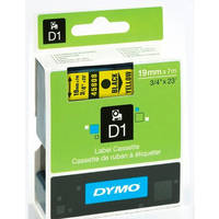 Dymo LabelManager 300 ready Original Dymo 45808 Black on Yellow 19mm x 7m D1 Label Cartridge (S0720880) Image