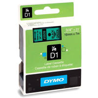 Dymo LabelManager 300 ready Original Dymo 45809 Black on Green 19mm x 7m D1 Label Cartridge (S0720890) Image