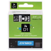 Dymo LabelManager 300 ready Original Dymo 45811 White on Black 19mm x 7m D1 Label Cartridge (S0720910) Image