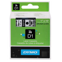 Dymo LabelManager 450 ready Original Dymo 53710 Black on Clear 24mm x 7m D1 Label Cartridge (S0720920) Image