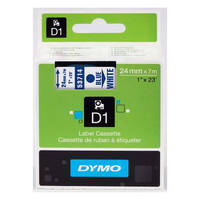 Dymo LabelManager 300 ready Original Dymo 53714 Blue on White 24mm x 7m D1 Label Cartridge (S0720940) Image