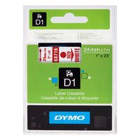 Dymo LabelManager 300 ready Original Dymo 53715 Red on White 24mm x 7m D1 Label Cartridge (S0720950) Image