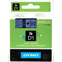 Dymo LabelManager 300 ready Original Dymo 53716 Black on Blue 24mm x 7m D1 Label Cartridge (S0720960) Image