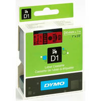 Dymo LabelManager 300 ready Original Dymo 53717 Black on Red 24mm x 7m D1 Label Cartridge (S0720970) Image