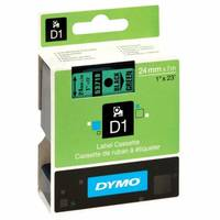 Dymo LabelManager 300 ready Original Dymo 53719 Black on Green 24mm x 7m D1 Label Cartridge (S0720990) Image