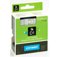 Dymo LabelManager 300 ready Original Dymo 53720 White on Transparent 24mm x 7m D1 Label Cartridge (S0721000) Image