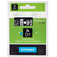 Dymo LabelManager 300 ready Original Dymo 53721 White on Black 24mm x 7m D1 Label Cartridge (S0721010) Image