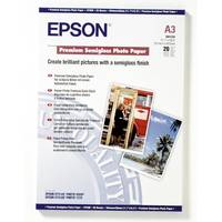 Original Epson A3 Premium Semi-Gloss Photo Paper 251gsm 20 Sheets (C13S041334) Image