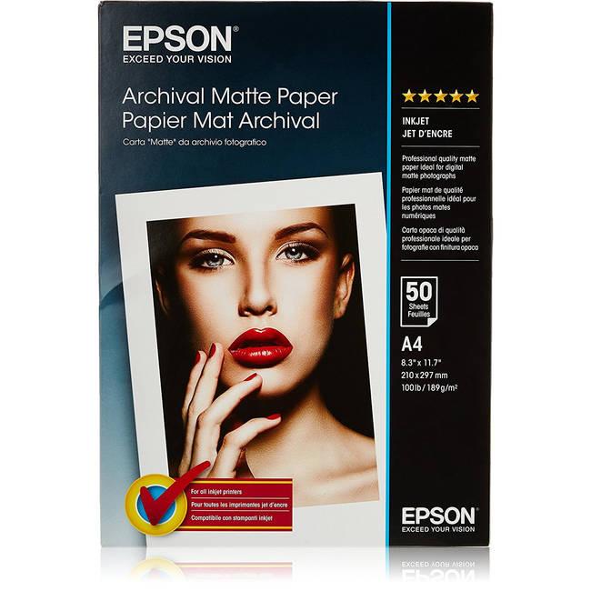 Epson 8 Color Inkjet Print Epson Premium Semigloss Photo: Epson Archival A4 192gsm Premium Matte Finish Inkjet