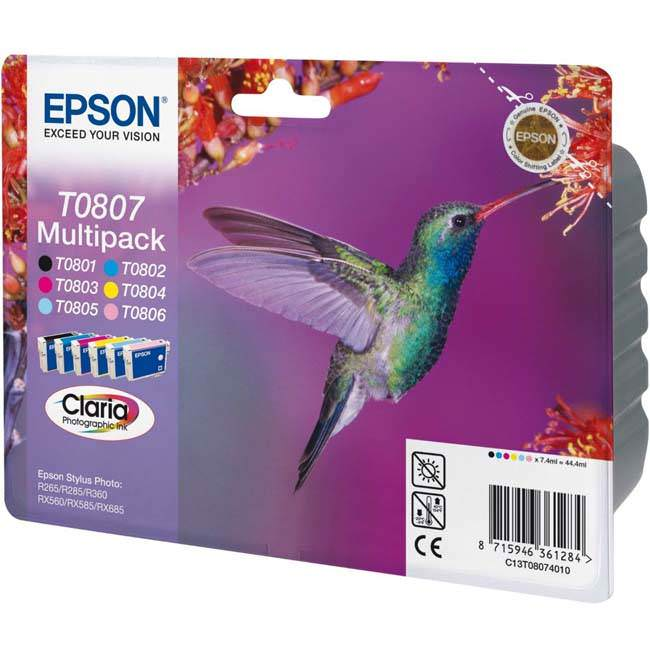 Epson T0807 Original Cartridge Multipack