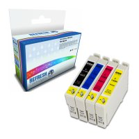 Epson Stylus DX7000F ready Everyday Valuepack of 4 Remanufactured Epson Ink Cartridges (T0711/2/3/4 or T0891/2/3/4) Image