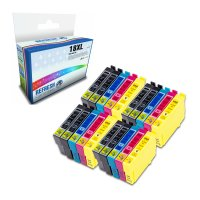 Super Saver Valuepack of 20 Remanufactured Epson 18XL Ink Cartridges (T1811/T1812/T1813/T1814) Image