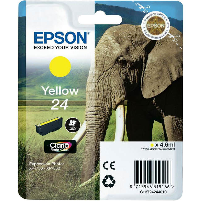 Original Yellow Epson 24 Ink Cartridge