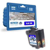Remanufactured Frama 1019136 Blue Franking Machine Ink Cartridge (1019136) Image