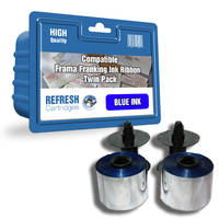 Frama OfficeMail ready Compatible Frama 230-03-076 Blue Franking Ink Ribbon Twinpack (23003076) Image