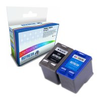 Basic Valuepack of 2 Remanufactured HP 56 and HP 57 Ink Cartridges (C6656A & C6657A) Image