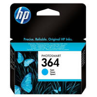 HP PhotoSmart 6525 e-All-in-One ready Original HP 364 Cyan Ink Cartridges (CB318EE) Image