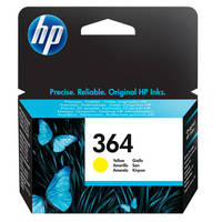 HP PhotoSmart 6525 e-All-in-One ready Original HP 364 Yellow Ink Cartridge (CB320EE) Image