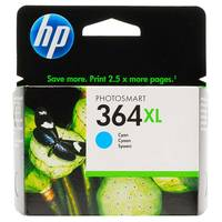HP PhotoSmart 6525 e-All-in-One ready Original HP 364XL Cyan High Capacity Ink Cartridge (CB323EE) Image