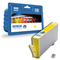 HP PhotoSmart 6525 e-All-in-One ready Compatible HP 364XL Yellow High Capacity Ink Cartridge (CB325EE) - Without Chip; please click for instructions. Image