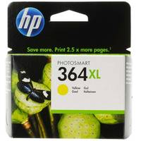 HP PhotoSmart 6525 e-All-in-One ready Original HP 364XL Yellow High Capacity Ink Cartridge (CB325EE) Image