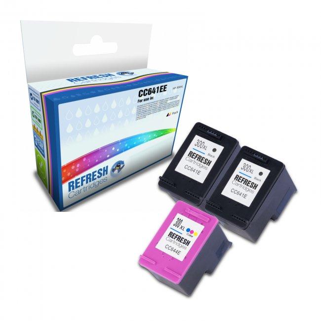 remanufactured hp 300xl ink cartridges x3 valuepack. Black Bedroom Furniture Sets. Home Design Ideas