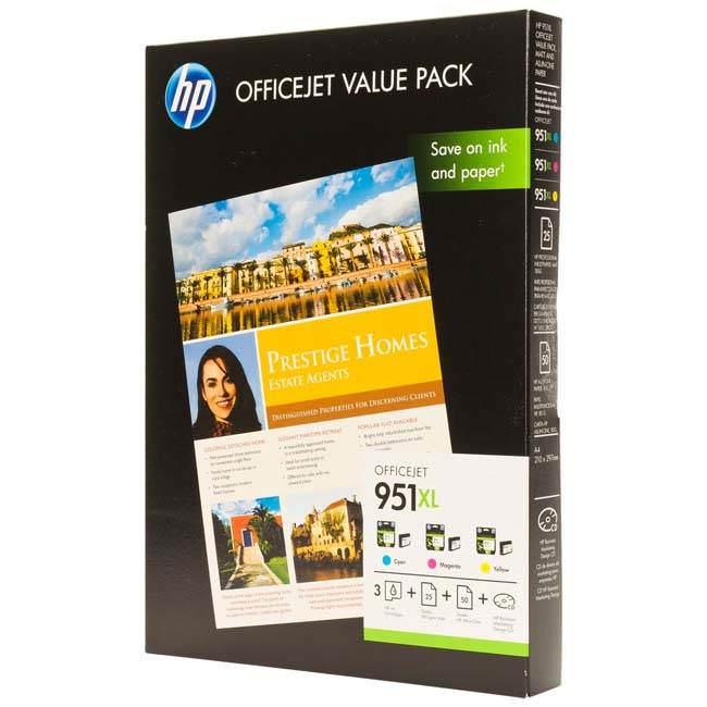 hp cr712ae 951xl original 3 colour inkjet multipack. Black Bedroom Furniture Sets. Home Design Ideas