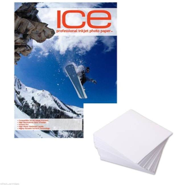 Ice Glossy Coated 6x4 Photo Paper 210gsm 50 Sheets