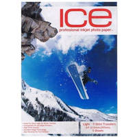 Ice Iron On A4 T-Shirt Transfer Paper for Light T-Shirts - 5 Sheets Image
