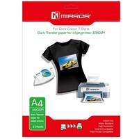 Mirror Iron On A4 T-Shirt Transfer Paper for Dark T-Shirts 300gsm - 5 Sheets Image