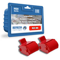Compatible Neopost 300238 Red Ink Rollers Twinpack (300238) Image