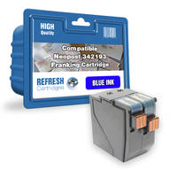 Compatible Neopost 342193 High Capacity Blue Mailmark Franking Machine Cartridge (342193) Image