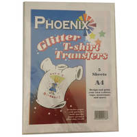 Phoenix Glittery Iron On A4 T-Shirt Transfer Paper for Light T-Shirts (5 Sheets) Image