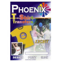 Phoenix Iron On A4 T-Shirt Transfer Paper for Light T-Shirts - 10 Sheets Image