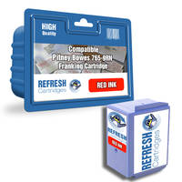 Compatible Pitney Bowes 765-9RN Red Franking Machine Ink Cartridge (10082-800) Image