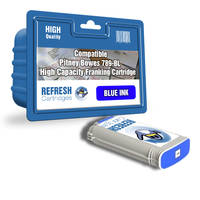 Compatible Pitney Bowes 789BL High Capacity Blue Franking Machine Ink Cartridge (789-BL) Image