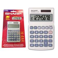 Sharp 8 Digit Pocket Calculator (EL240SAB) Image