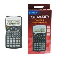 Sharp Scientific & Statistical Calculator With 2 Line Display - Black (EL-531WH-BK) Image