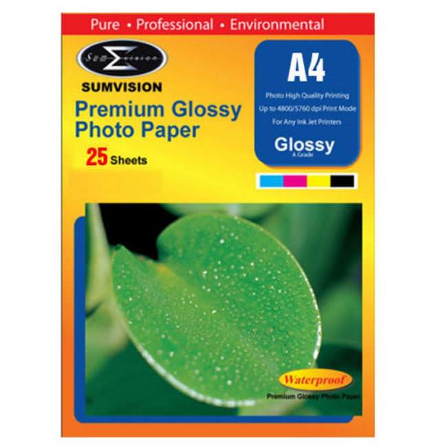 Sumvision Glossy A4 Photo Paper 180gsm 25 Sheets
